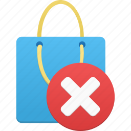 bag, delete, item, remove, shopping icon