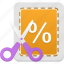 coupon, discount, sale icon