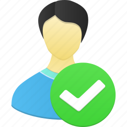 accept, account, check, male, man, people, person, profile, user icon