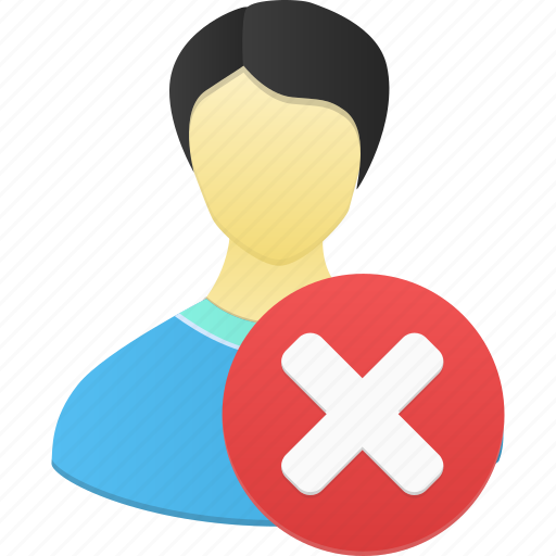 account, delete, male, man, people, person, profile, remove, user icon