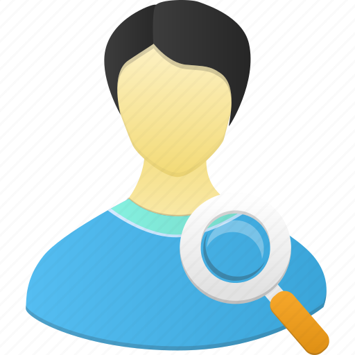 account, find, human, male, man, people, person, profile, search, user, view icon