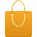 bag, business, buy, ecommerce, orange, shop, shopping, webshop icon