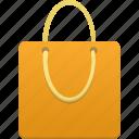 orange, bag, shopping, shop, webshop, buy, ecommerce, business icon