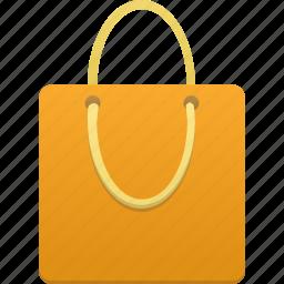 bag, business, buy, ecommerce, orange, shop, shopping, webshop icon