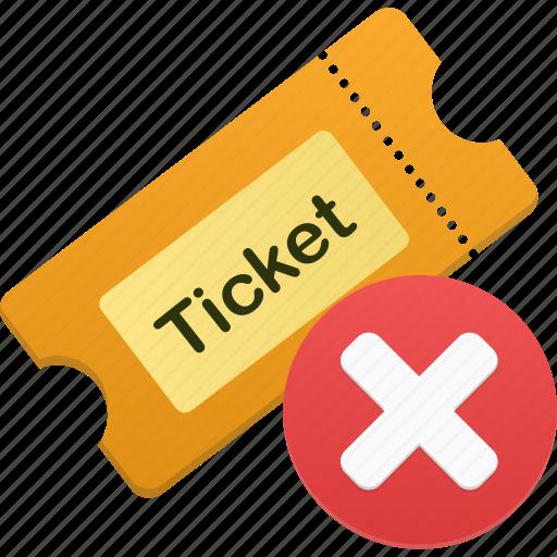delete, remove, ticket icon