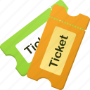 theater, ticket, tickets icon