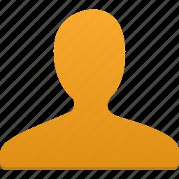 account, male, man, orange, people, person, profile, user icon