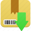 box, download, downloads, package, save icon