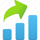 analytics, business, chart, graphs, increase, report, rise, statistics icon