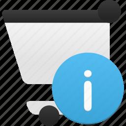 buy, cart, ecommerce, info, shop, shopping, webshop icon