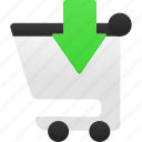 buy, cart, ecommerce, insert, shop, shopping, webshop icon