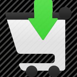 buy, cart, ecommerce, insert, shop, shopping, webshop icon