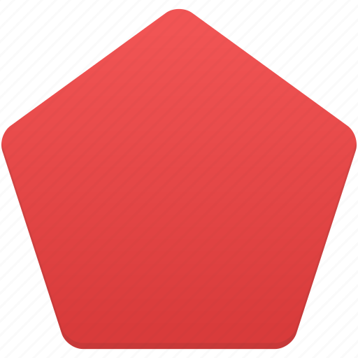 pentagon, shape, shapes icon