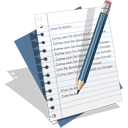 document, edit, email, text, write icon