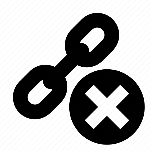 Building, chain, remove, link, seo, delete icon - Download