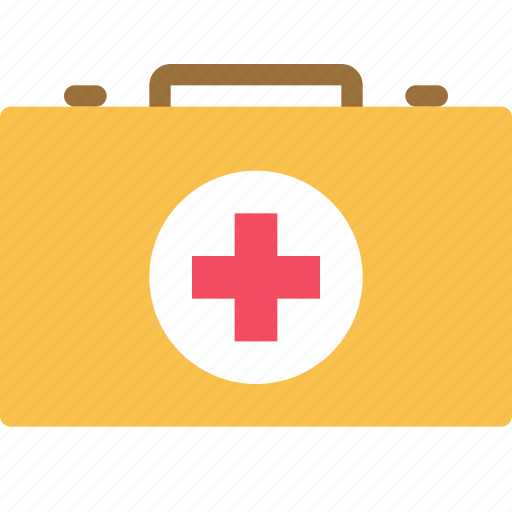 aid, bag, first, health, kit, medical, suitcase icon
