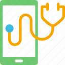 health, healthcare, mobile, phone, stethoscope icon