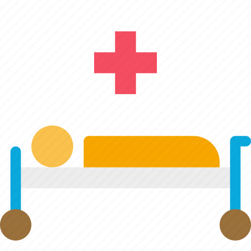 bed, emergency, health, hospital, medical icon