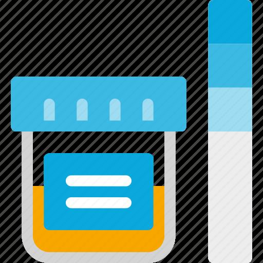 examine, health, jar, medical, test, urine icon