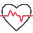 cardiogram, health, healthcare, heart, medical icon