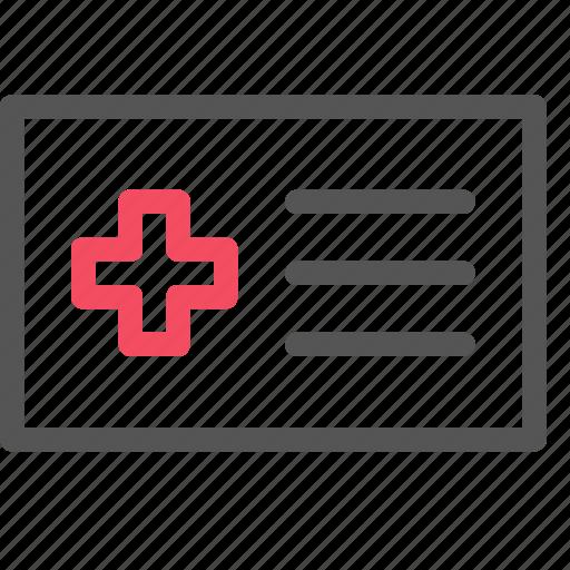 card, cross, health, healthcare, insurance, medical icon