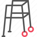 aid, frame, health, hospital, walking, wheel icon