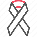 health, hiv, medical, ribbon, syndrome icon