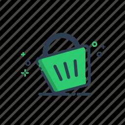 cart, colorful, ecommerce, flatolin, illustration, line, line icon icon