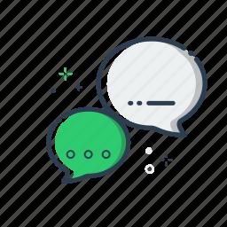 chat, colorful, flatolin, forum, illustration, line icon, speak icon