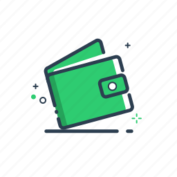 flatolin, green, illustration, line, line icon, money, wallet icon