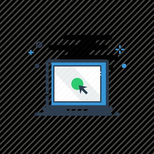 flatolin, illustration, laptop, line, line icon, macbook, online icon