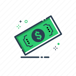 bucks, cash, cen, dollar, flatolin, line, money icon