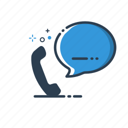 chat, contact, flatolin, phone, speak, support, telephone icon