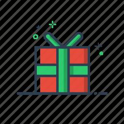 birthday, box, celebration, christmas, decoration, delivery, flatolin, gift, package, present, red, santa, xmas icon