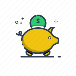 bank, banking, business, cash, coin, currency, cute, dollar, euro, fees, finance, financial, flatolin, guardar, money, money box, payment, pig, save, saving icon