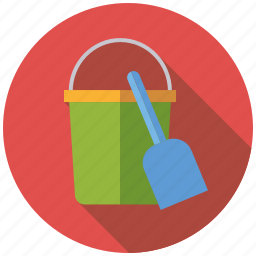 beach, playing, sand bucket, shovel, toys icon