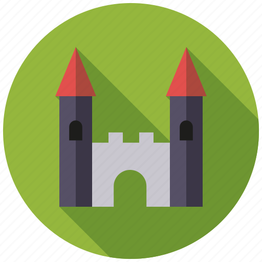 building, castle, fort, fortress, playing, toys icon
