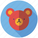 animal, face, playing, teddy bear, toys icon