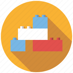 bricks, building blocks, construction, playing, toys icon