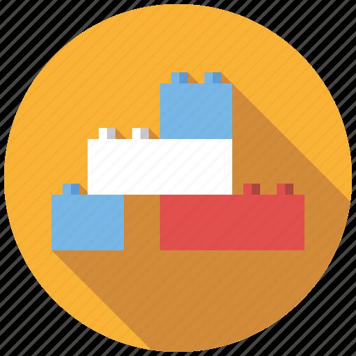 bricks, building blocks, construction, playing, toys icon