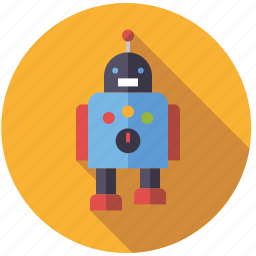 android, machine, playing, robot, toys icon