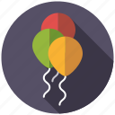 balloons, celebration, festive, party, playing, toys icon