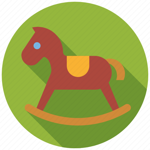 playing, rocking horse, toddlers, toys icon