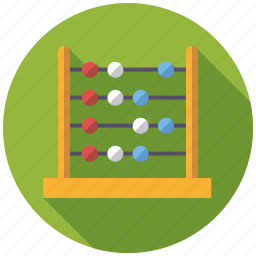 abacus, calculating, education, mathematics, maths, playing, toys icon