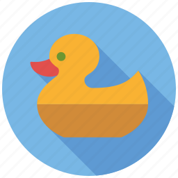 bathing, duck, ducky, playing, rubber duck, toys icon