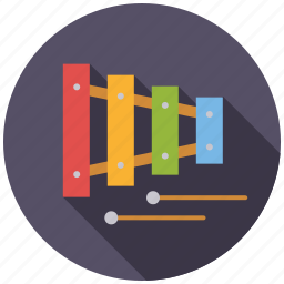 music, musical instrument, percussion, playing, toys, xylophone icon