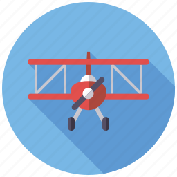 aircraft, airplane, doubledecker, playing, toys, transportation icon