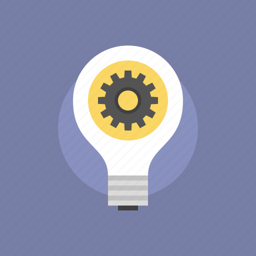 bulb, business, cogwheel, development, electric, electricity, energy, idea, illustration, internet, light, lightbulb, marketing, optimization, power, process, success, web icon