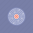 business, challenge, exit, find, game, illustration, internet, labyrinth, lost, maze, office, problem, search, solution, solving, way icon