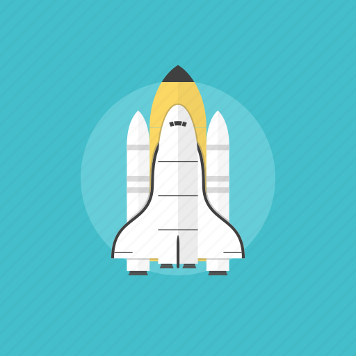concept, energy, illustration, launch, mission, power, rocket, shuttle, space, spaceship, startup, technology icon